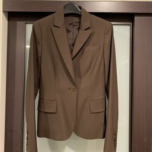 Theory Gabe B Tailor Brown Jacket Size 0 EUC